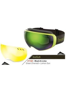 Gogle BOLLE VIRTUOSE Black & Lime Green Emerald + Lemon Gun