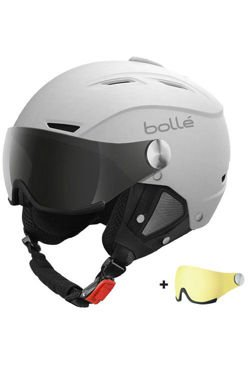 Kask narciarski BOLLE BACKLINE Visor Soft White With Silver Gun Visor + Lemon Visor
