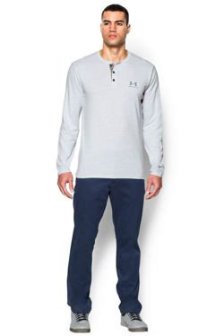 Koszulka UNDER ARMOUR HEATGEAR TRI-BLEND LONGSLEEVE HENLEY