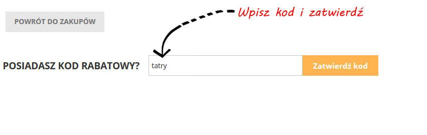 Kod rabatowy: tatry