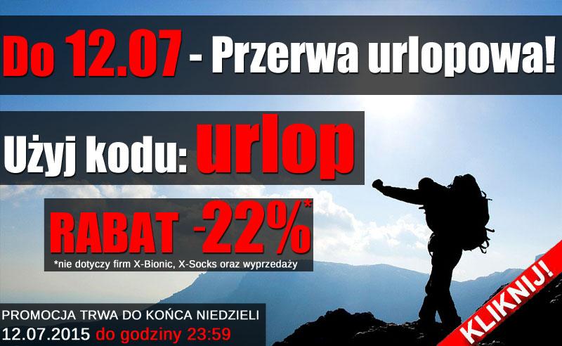 Przez urlop kod rabatowy -22%